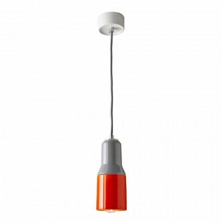 Lampe à suspension moderne en céramique et aluminium fabriqué en Italie, Asie