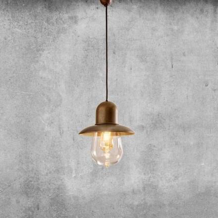 Lampe Suspendue Vintage avec Réflecteur en Laiton – Guinguette Aldo Bernardi