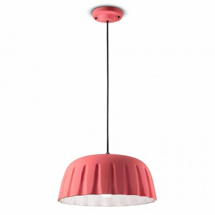 Lampe à Suspension Vintage en Céramique Made in Italy - Ferroluce Madame Grès