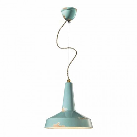 Lampe suspendue de design vintage faite en Italie par Ferroluce