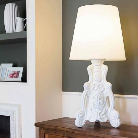 Lampe de table colorée au design moderne Slide Lady of Love, fabriquée en Italie