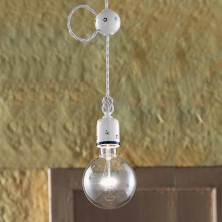 Lampe suspendue en céramique de style rustique Ferroluce