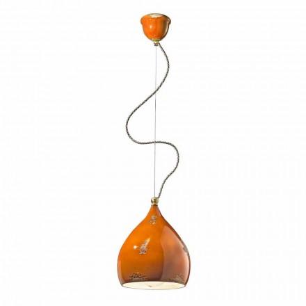 Lampe suspendue en céramique de style vintage Ferroluce