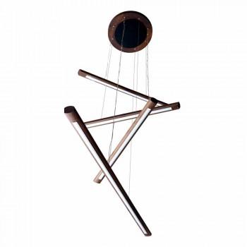 Lustre design 4 pièces en bois de Grilli York fabriqué en Italie