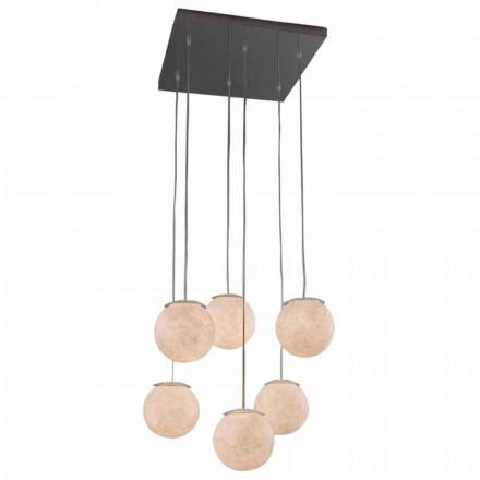 Lustre design moderne In-es.artdesign Sei Lune en nébulite