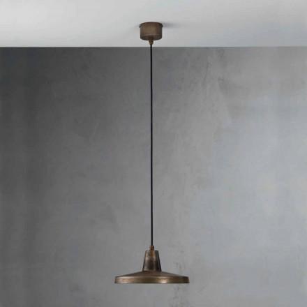 Suspension luminaire de design industriel en fer vieilli Monica