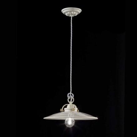 Lampe style vintage industriel en céramique brillante Gloria Ferroluce
