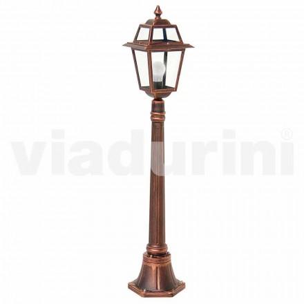 Lampadaire bas d'extérieur fabriqué en aluminium, fabriqué en Italie, Kristel