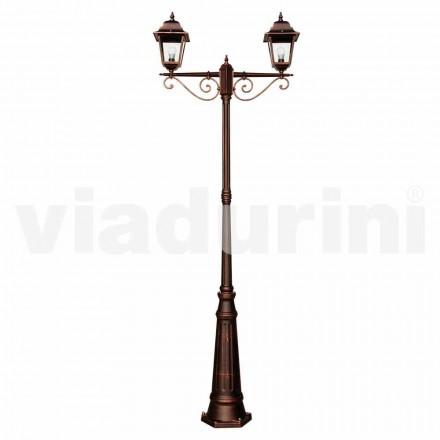 Lampadaire classique d'extérieur en aluminium fabriqué en Italie, Aquilina