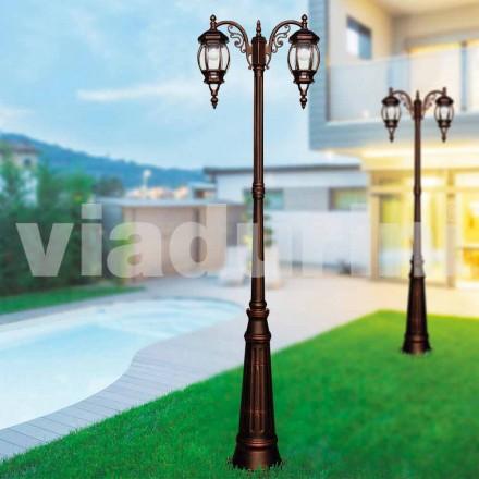 Lampadaire d'extérieur classique en aluminium moulé sous pression, fabriqué en Italie, Anika