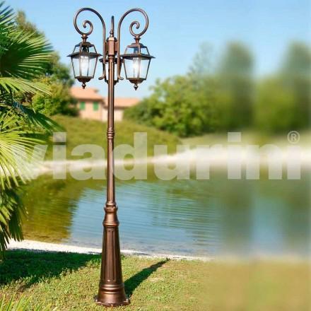 Lampadaire de jardin à trois lumières en aluminium fabriqué en Italie, Kristel