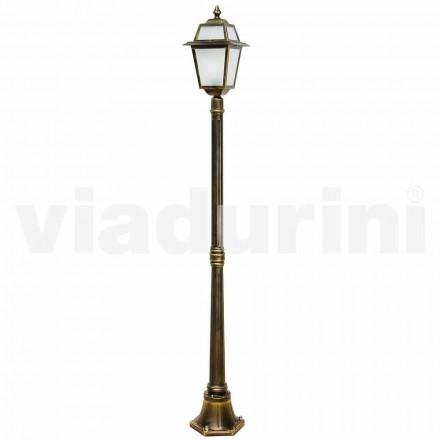 Lampadaire exterieur classique en aluminium fabriqué en Italie, Kristel