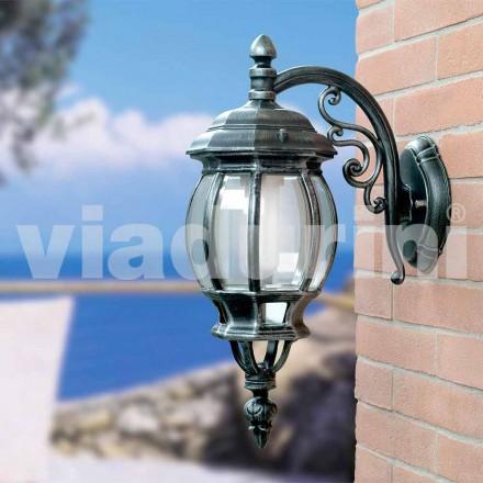 Lanterne murale de jardin en aluminium, produite en Italie, Anika