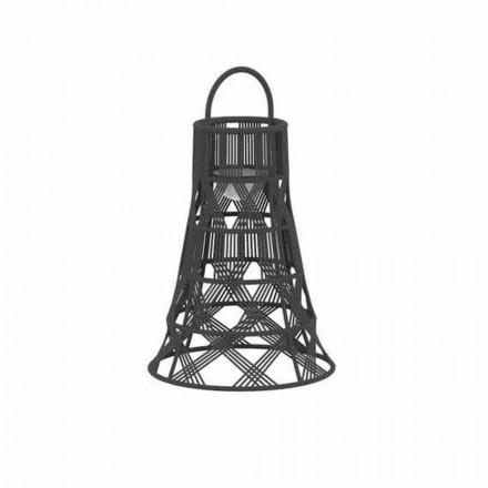 Lanterne LED extérieure en corde et design de luxe en aluminium - Tribal par Talenti