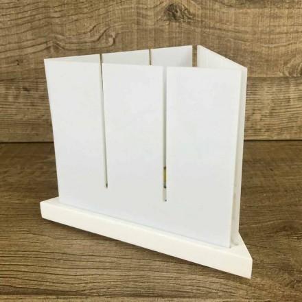 Lanterne de salon design triangulaire blanche en corian - Sisifo