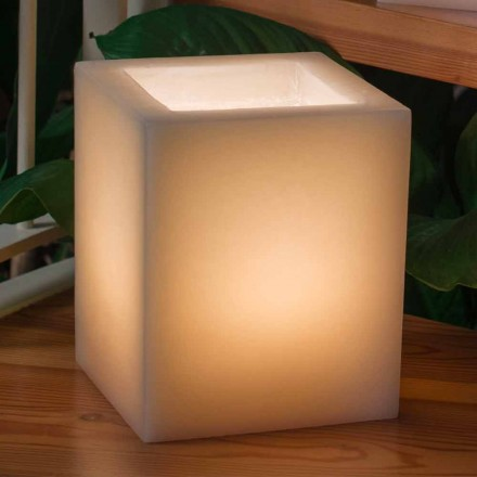Lanterne en cire parfumée Effet rayé avec bougie Made in Italy - Famme