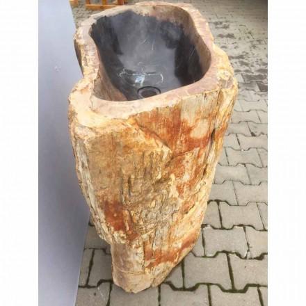 Lavabo sur colonne en pierre naturelle  Ley, fait à la main