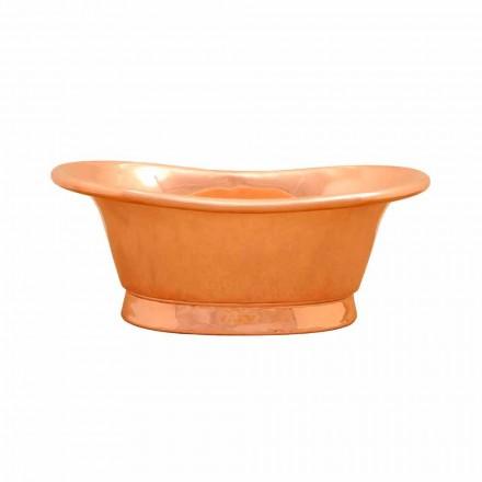 Vasque lavabo à poser de design en cuivre Calla, faite à la main