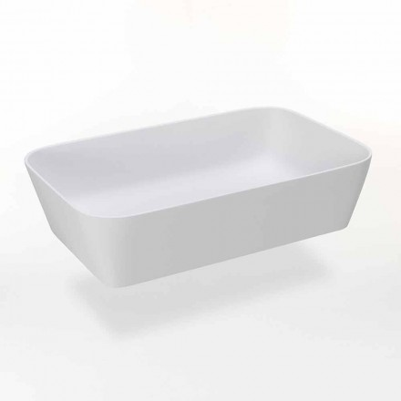 Vasque à poser rectangulaire en résine mate Made in Italy - Cavan