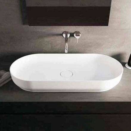 Vasque de salle de bain en Luxolid Dalmine Maxi, L90 x P42 x H12 cm