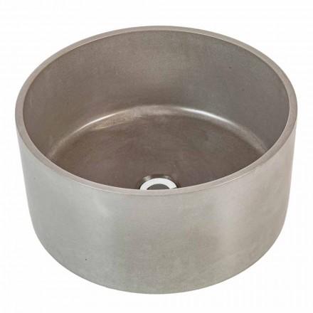 Lavabo à poser circulaire en ciment Rivoli