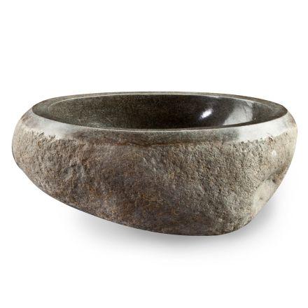 Lavabo à poser Artisan en pierre naturelle de rivière moderne - Aurea