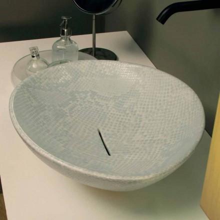Lavabo d'appui de design céramique en python, fait en Italie Animals