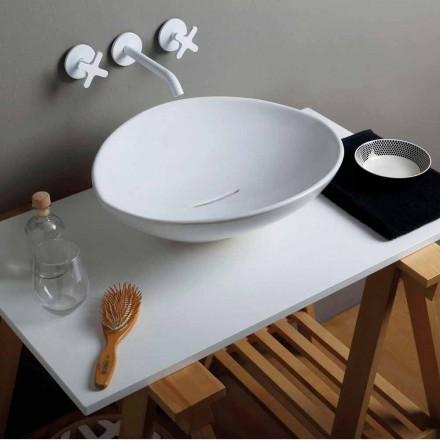 Lavabo d'appui design de tendance en céramique fait en Italie Animals