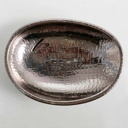 Lavabo d'appui de design céramique silver, fait en Italie Glossy