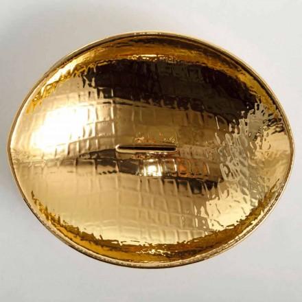 Lavabo d'appui de design en céramique gold, fait en Italie Animals