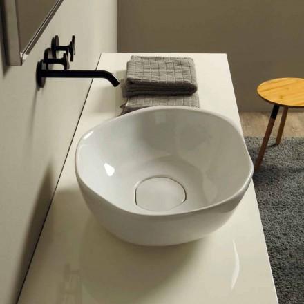 Lavabo d'appui de design en céramique, produit en Italie, Stelo