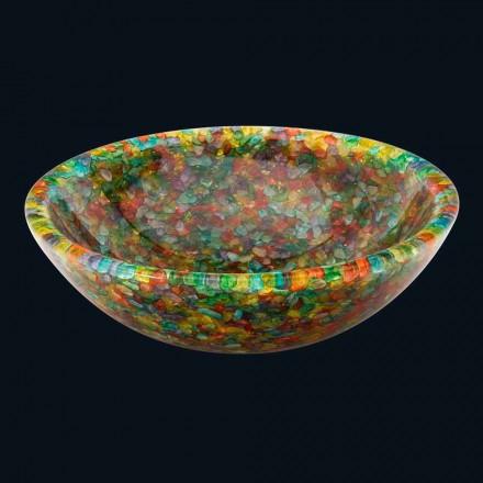 Lavabo à poser de design en résine de synthèse et quartz Nita