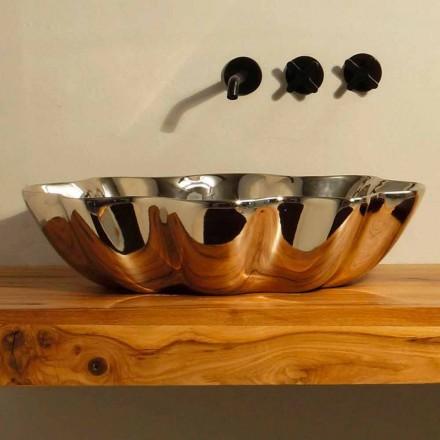 Lavabo d'appui de design moderne en céramique, fait en italie Cubo
