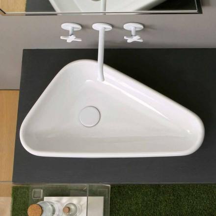 Lavabo d'appui de design moderne en céramique, fait en Italie, Sofia