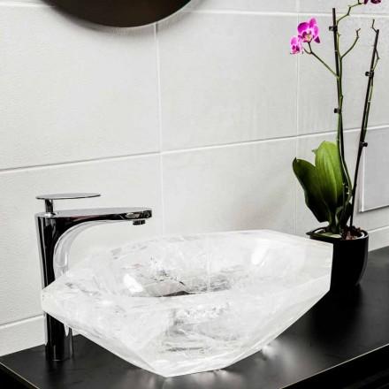 Lavabo à poser fait main en cristal de roche - Falvaterra