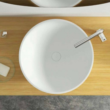 Vasque à poser ronde de design Donnas, made in Italy, dimensions Ø 39