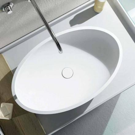 Vasque à poser ovale Frascati, fabriquée en Italie de design moderne