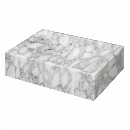 Vasque à Poser Carrée en Marbre de Carrara Brut Made in Italy – Canova