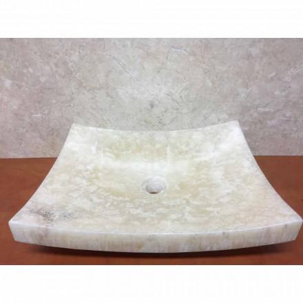 Lavabo d'appui en pierre onyx naturelle, Love, pièce unique