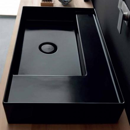 Vasque à poser noire de design moderne faite en céramique Joker