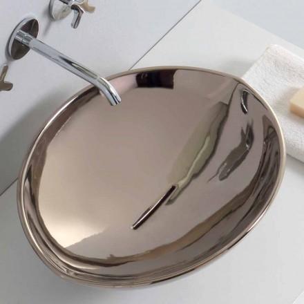 Lavabo à poser moderne en céramique de platine fabriqué en Italie