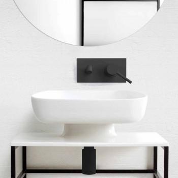 Lavabo à poser en céramique moderne fabriqué en Italie, Reale