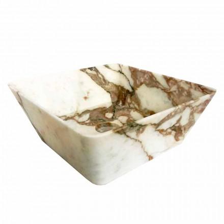Lavabo à poser moderne en marbre Calacatta de design Made in Italy - Kuore