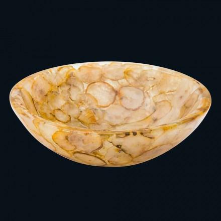 Lavabo à poser moderne en résine de synthèse et agate Petra