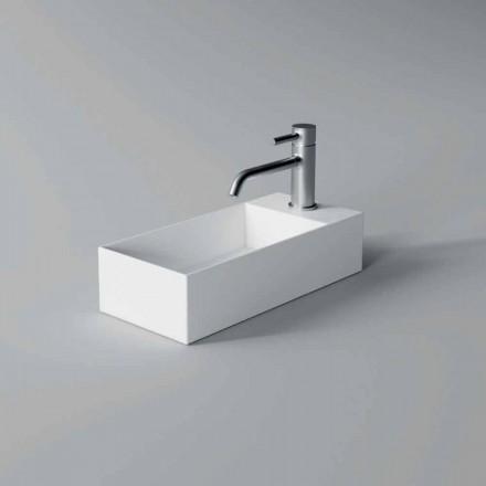 Lavabo à poser en céramique rectangulaire fabriqué en Italie - Loi