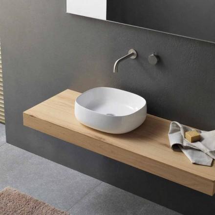 Lavabo à poser en céramique blanche design ovale moderne - Tune3