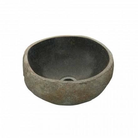 Vasque à poser en pierre naturelle de rivière modèle Agra