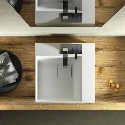 Lavabo à poser Lavis carré et rectangulaire fait en Italie de design