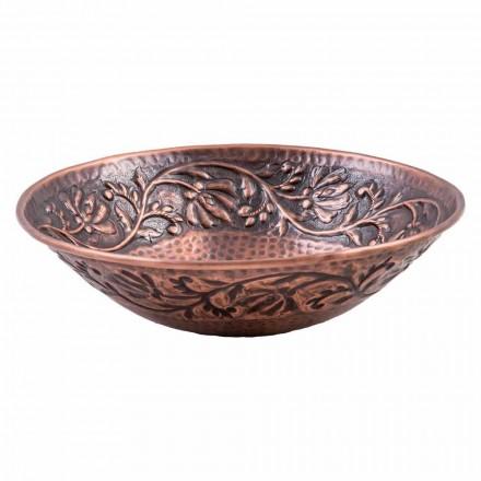 Lavabo à poser fait main en cuivre, Pallare, pièce unique