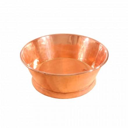 vasque avabo à poser rond en cuivre Ania, faite à la main